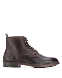Botas formales de cuero en marrón oscuro de Barbour