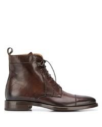 Botas formales de cuero en marrón oscuro de Scarosso