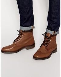 Botas formales de cuero marrón claro de Asos