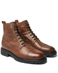 Botas formales de cuero marrónes de Belstaff
