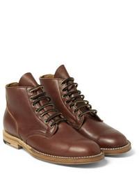 Botas formales de cuero marrónes