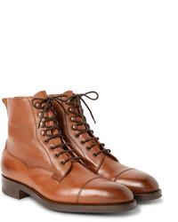 Botas formales de cuero marrónes de Edward Green