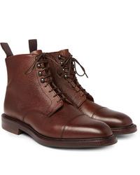 Botas formales de cuero marrónes de Kingsman