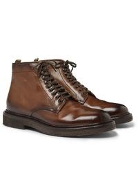 Botas formales de cuero marrónes de Officine Creative