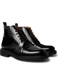 Botas formales de cuero negras de Ami