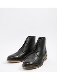 Botas formales de cuero negras de ASOS DESIGN
