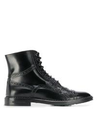 Botas formales de cuero negras de Dolce & Gabbana