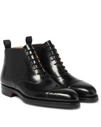 Botas formales de cuero negras de George Cleverley