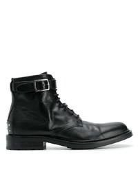 Botas formales de cuero negras de Saint Laurent