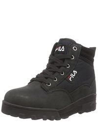 FilaModa España Negros Lookastic Hombres Para Unos Comprar Zapatos fy6g7vYb