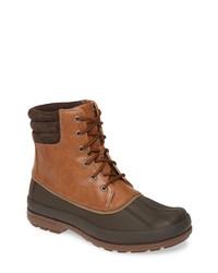 Botas para la nieve de cuero marrónes