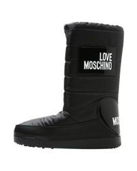 Botas para la Nieve Estampadas Negras de Moschino