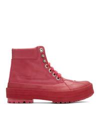 Botas para la nieve rosa de Jacquemus