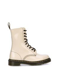 Botas planas con cordones de cuero blancas de Marc Jacobs