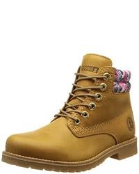 Botas planas con cordones de cuero marrón claro de Coronel Tapioca