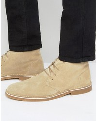 Botas safari de ante en beige de Selected
