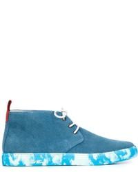 Botas safari de ante en verde azulado de Del Toro Shoes