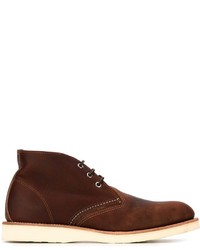 Botas safari de cuero burdeos de Red Wing Shoes