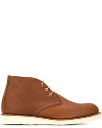 Botas safari de cuero en tabaco de Red Wing Shoes