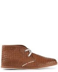 Botas safari de cuero marrónes