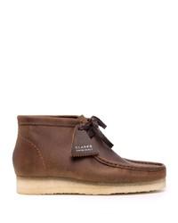 Botas safari de cuero marrónes de Clarks Originals