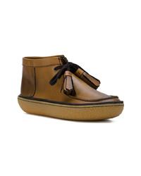 Botas safari de cuero marrónes de Prada