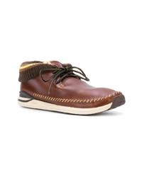 Botas safari de cuero marrónes de VISVIM