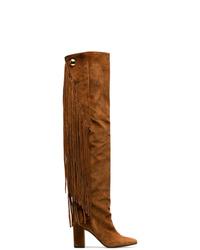 Botas sobre la rodilla de ante en tabaco de Chloé