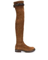 Botas sobre la rodilla de ante marrónes de Ermanno Scervino