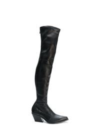 Botas sobre la rodilla de cuero negras de Givenchy