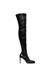 Botas sobre la rodilla de cuero negras de Stella McCartney