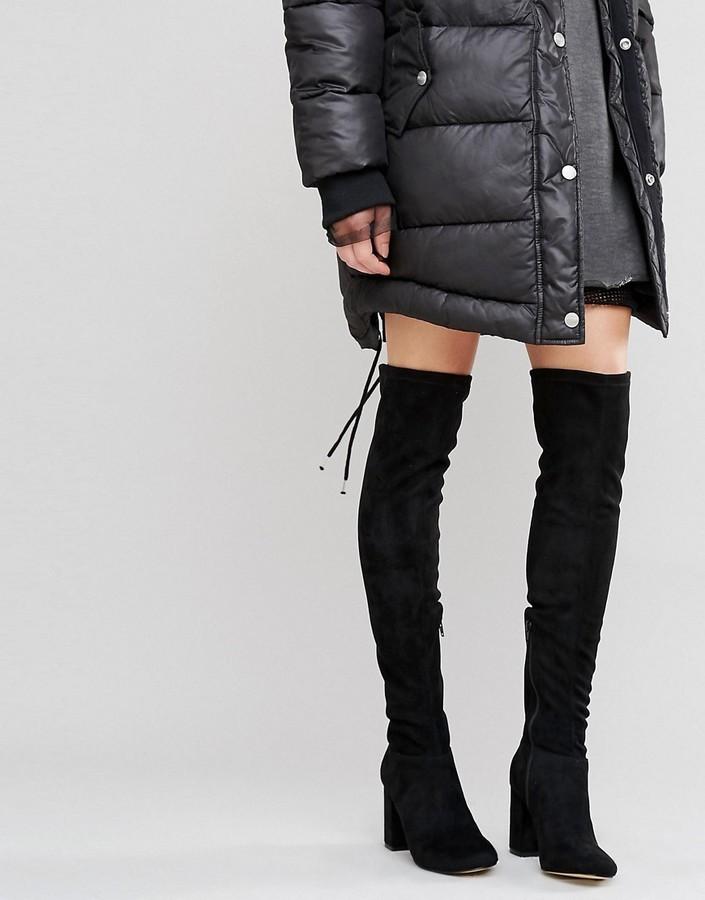 diseño de calidad descuento más bajo moderno y elegante en moda Botas sobre la rodilla de terciopelo negras de Miss KG