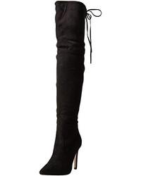 Botas sobre la rodilla negras de Boohoo