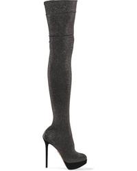 Botas sobre la rodilla negras de Charlotte Olympia