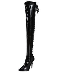 Botas sobre la rodilla negras de Pleaser