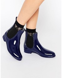 Botines chelsea azul marino de Glamorous