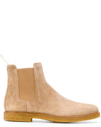 Botines chelsea de ante en beige de Common Projects