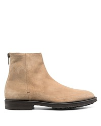 Botines chelsea de ante en beige de Paul Smith