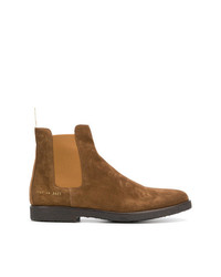 Botines chelsea de ante en tabaco de Common Projects
