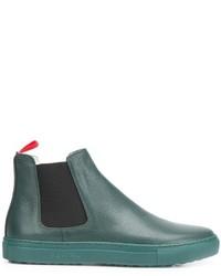 Botines Chelsea de Cuero en Verde Azulado de Del Toro Shoes