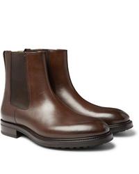 Botines chelsea de cuero marrónes de Tom Ford