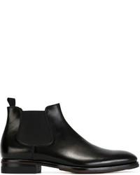 Botines chelsea de cuero negros de Giorgio Armani