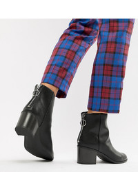 Botines Chelsea de Cuero Negros de New Look Wide Fit