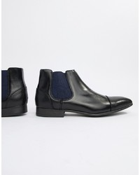 Botines chelsea de cuero negros de Truffle Collection