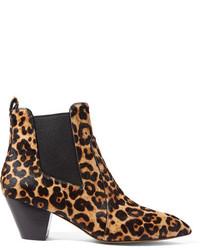 Botines chelsea de leopardo negros de Marc Jacobs
