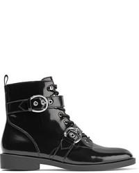 Botines con cordones de cuero negros de Marc Jacobs
