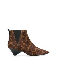 Botines de ante de leopardo marrónes de Ash