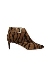Botines de ante de leopardo marrónes de Chloe Gosselin