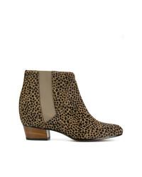 Botines de Ante de Leopardo Marrónes de Golden Goose Deluxe Brand