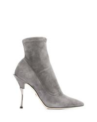 Botines de ante grises de Dolce & Gabbana